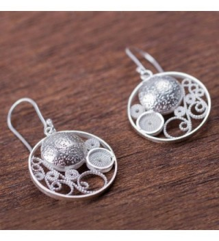NOVICA Sterling Filigree Earrings Circular