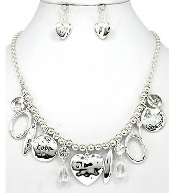 Hammered Silver tone Necklace Jewelry Nexus - Silver-tone - CG11HNJQS31