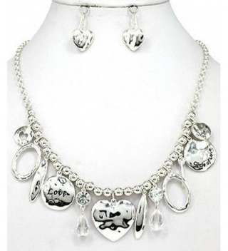 Hammered Silver tone Necklace Jewelry Nexus