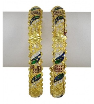 Indian Women Traditional Wedding Bangle Kada Set Bracelet Designer