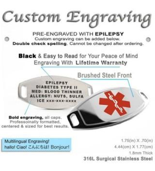 MyIDDr Pre Engraved Customized Epilepsy Bracelet