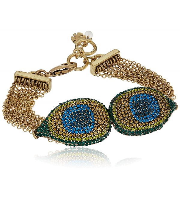 Lucky Brand Peacock Pave Strand Bracelet - C012MT8TH4H