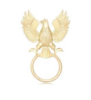 TUSHUO Gold-plated Expand The Wings of The Eagle Design Strong Magnetic Eyeglass Holder Brooch Pin - CM183UYY29U