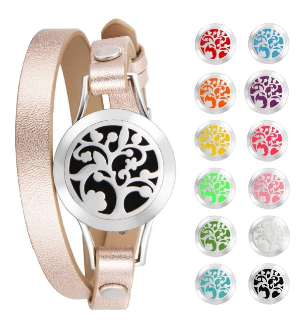 Aromatherapy Essential Hypoallergenic Stainless Adjustable - Silver - CR189LNXCX2