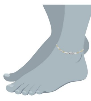 Yellow Singapore Anklet Sterling Silver in Women's Anklets