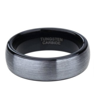 Tungsten Carbide Brushed Polished Engagement in Women's Wedding & Engagement Rings
