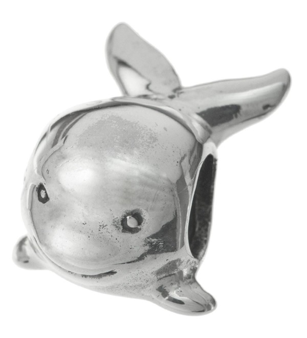 925 Sterling Silver Cute Whale Bead For European Charm Bracelet - CR11H041K1T