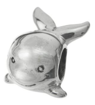 925 Sterling Silver Cute Whale Bead For European Charm Bracelet - CR11H041K1T
