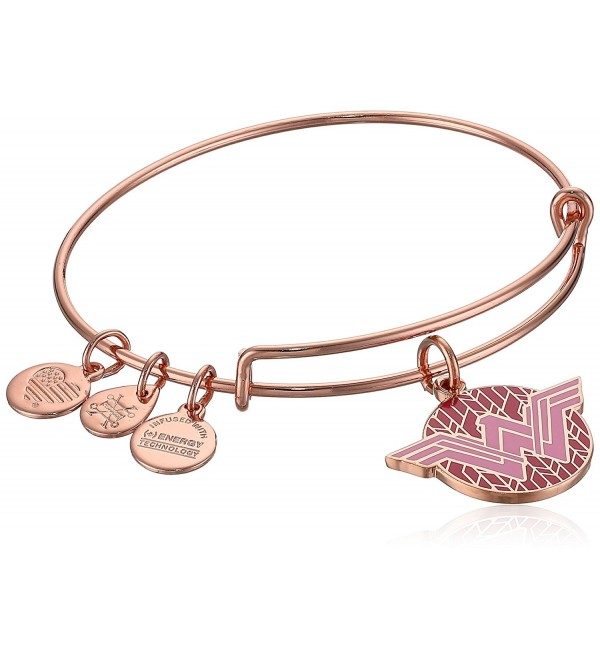 Alex and Ani Womens Wonder Woman- Color Infusion Bangle Bracelet - Shiny Rose - CR187DSUX4O