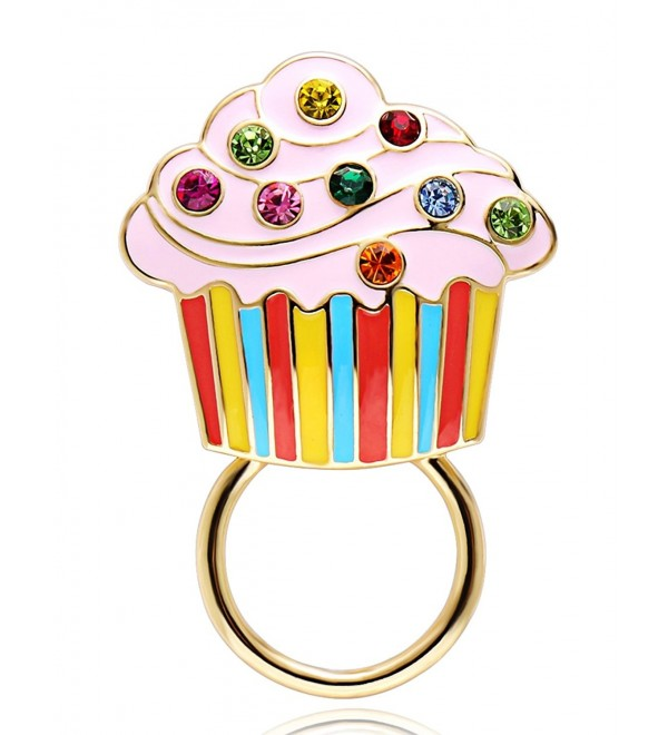 CHUANGYUN Ice Cream Colorful Crystal Strong Magnetic Brooch Cake Eyeglass Holder - CL17YS9C7CX
