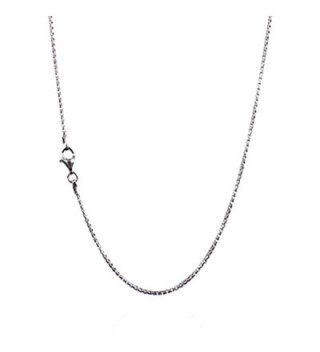 925 Sterling Silver 1.50 mm Round Box Chain Necklace With Pear Shape Clasp-RHODIUM FINISH - CO12O2UAVR1