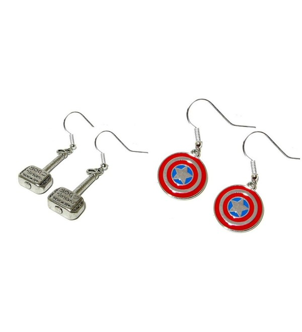 Marvel Comics Avengers Writing Earrings - CF12EF7FMYJ