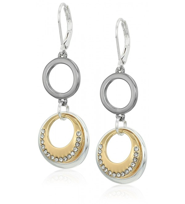 "Nine West ""Ring Around"" Double Drop Earrings - Tri-tone - CT12J0OI339"