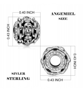 Sterling Halloween Skeleton European Bracelets