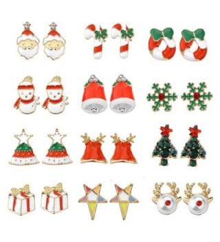Women Christmas Earring Stud Hypoallergenic - C3187ET8QSZ