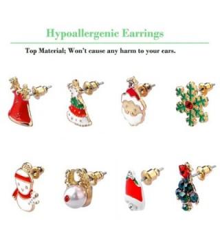 Women Christmas Earring Stud Hypoallergenic in Women's Stud Earrings