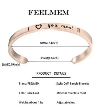Feelmem Bracelet Inspirational Jewelry Daughter in Women's Cuff Bracelets