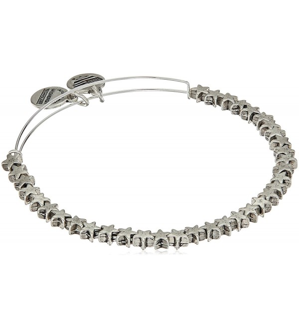 Alex and Ani Star Beaded Bangle Bracelet - Rafaelian Silver - CV1869KXN43