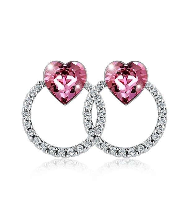 Earrings SWAROVSKI Crystals Exquisite Workmanship - Pink - CB17Y2EMNSL
