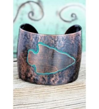 Western Coppertone Patina Arrowhead Bracelet