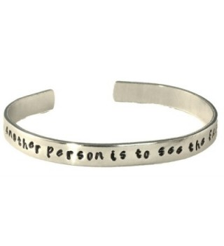 Les Mis Inspired - To Love Another Person Is to See the Face of God - A Hand Stamped Aluminum Bracelet - CW11JLVU0L5