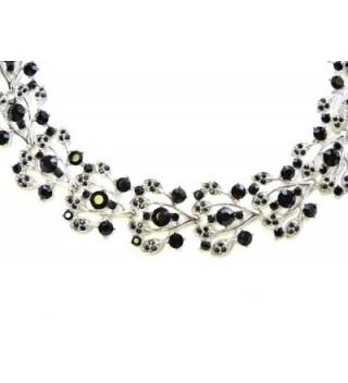 Faship Rhinestone Necklace Earrings Bracelet