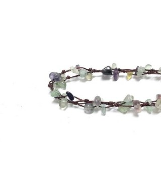 Purple Fluorite Beautiful Handmade Fashion in Women's Anklets