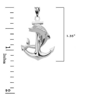 Textured Dolphin Anchor Sterling Pendant