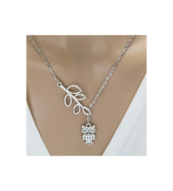 Owl Leaf Branch Necklace - CI12EPM4KP1