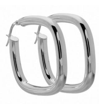 Amoro Italian Sterling Silver Cushion Earrings 33mm x 33mm - CO115DQ88AV