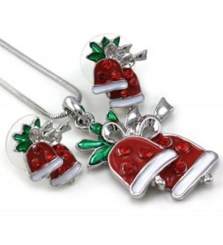 Christmas Pendant Necklace Earrings 2 piece