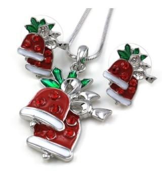 Christmas Pendant Necklace Earrings 2 piece in Women's Jewelry Sets