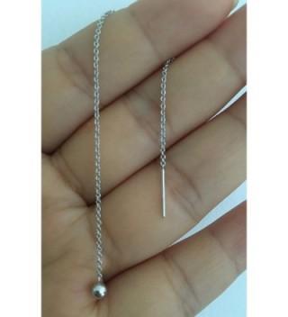Amkaka Sterling Threader Earrings 3 5inch in Women's Drop & Dangle Earrings