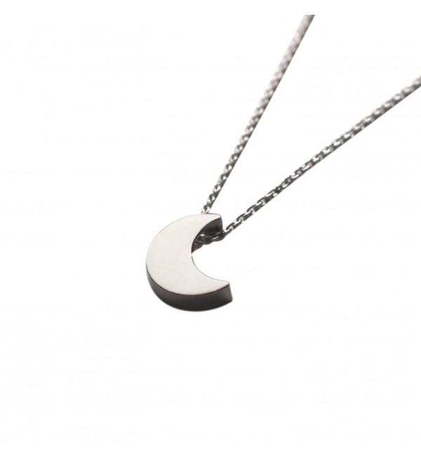 Freena Design Tiny Silver Crescent Moon Necklace - CT125N59ULD