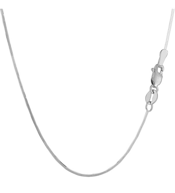 Sterling Silver Rhodium Plated Octagonal Snake Chain Necklace- 1.3mm - CB1150Z5TH1