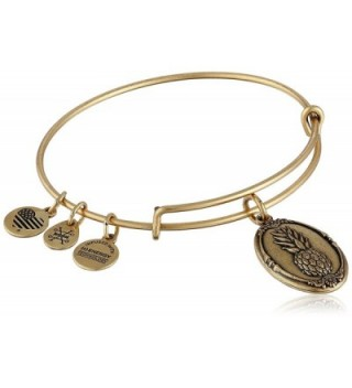 Alex and Ani Pineapple II Expandable Rafaelian Bangle Bracelet - Rafaelian Gold - CJ128Y57LKL