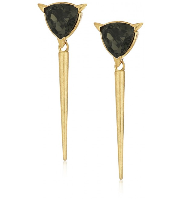 Nicole Miller NME21352 Trilliant Spike Gold Drop Earrings - CH12OBINJOA