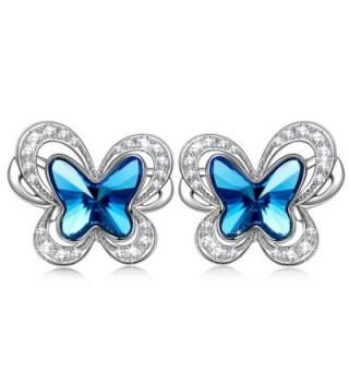 """Earrings with SWAROVSKI Crystals Women Jewelry KATE LYNN """"Butterflies in Stomach"""" Butterfly Stud Earrings - C5185A4G6TG"""