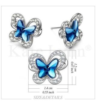 Butterfly Swarovski KATE LYNN Anniversary in Women's Stud Earrings