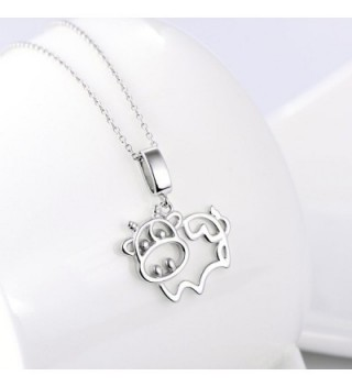 Sterling Silver Animal Pendant Necklace in Women's Pendants