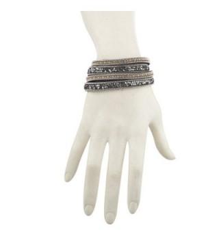 Lux Accessories Hematite Studded Bracelet