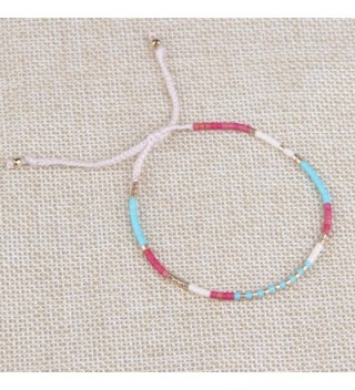 KELITCH Crystal Friendship Bracelet Handmade in Women's Wrap Bracelets