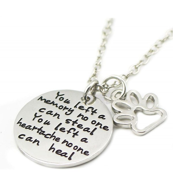 You Left a Memory No One Can Steal - Pendant Necklace Charm Jewelry - For the Love of Pets - C312FN91VU7