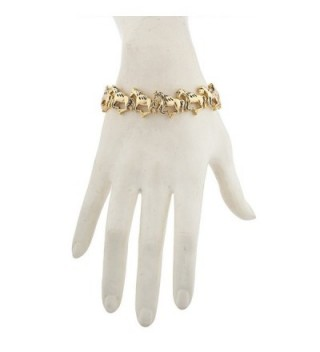 Lux Accessories Goldtone Running Bracelet