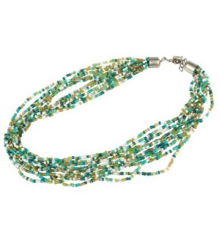 Multi Strand Green Gold Necklace