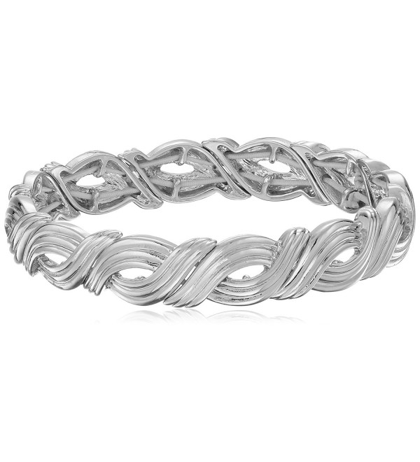 "Napier ""In Chains Gold"" Knot Stretch Bracelet - Silver - C012D6RG5X1"