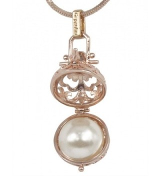 Dahlia Womens Pendant Necklace Pearl in Women's Pendants