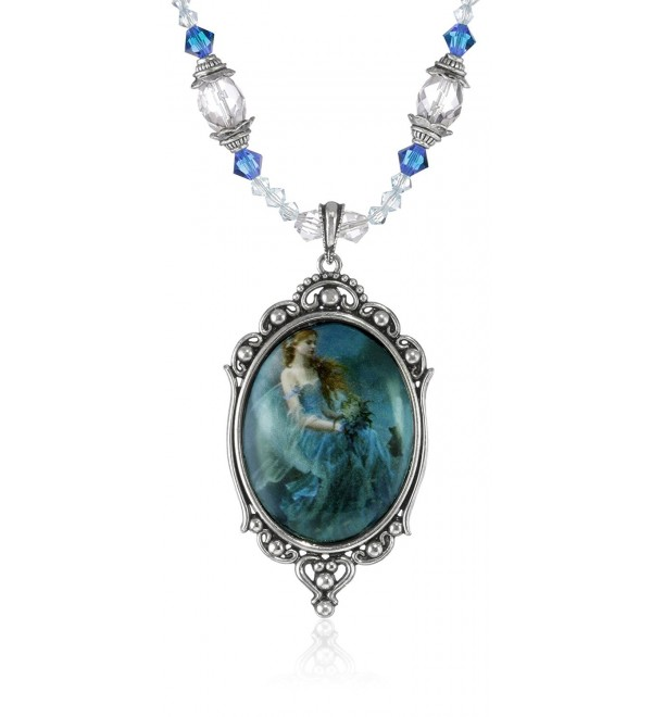(12 Styles) Munro Dragonsite Beautiful Vanities Necklace Choker - Wind Moon (Crystal) - C0115ZUOREH