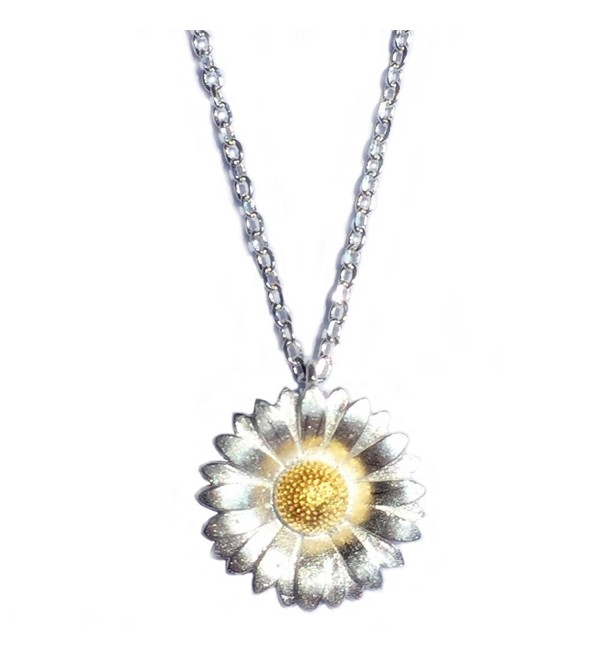 Helen de Lete Sunflower Little Daisy Sterling Silver Collar Necklace - C112N38F88S