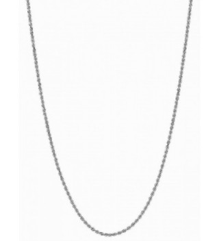 Sterling Silver Rope Link Chain Adjustable 16 to 22 Inches - CF1203B1QWD